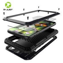 Роскошные Doom Броня металлический Алюминий чехол для телефона для iPhone XS MAX XR X 6 6 S 7 8 плюс 5S SE 5 5C 4S всего тела чехол противоударный Fundas