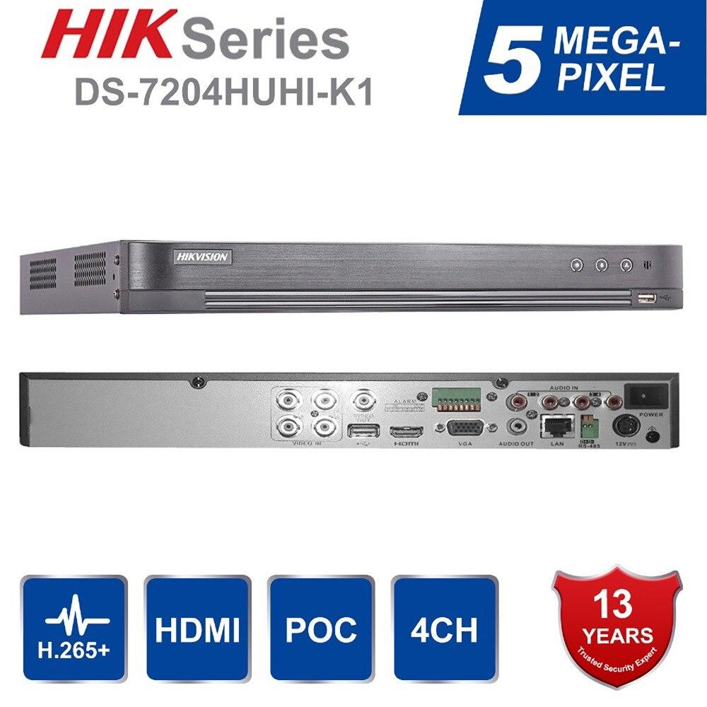 Version anglaise originale Hik 4ch/8ch DVR DS-7204HUHI-K1 et DS-7208HUHI-K1 AHD CVI TVI CVBS IP 8MP DVR de sécurité pour caméra analogique