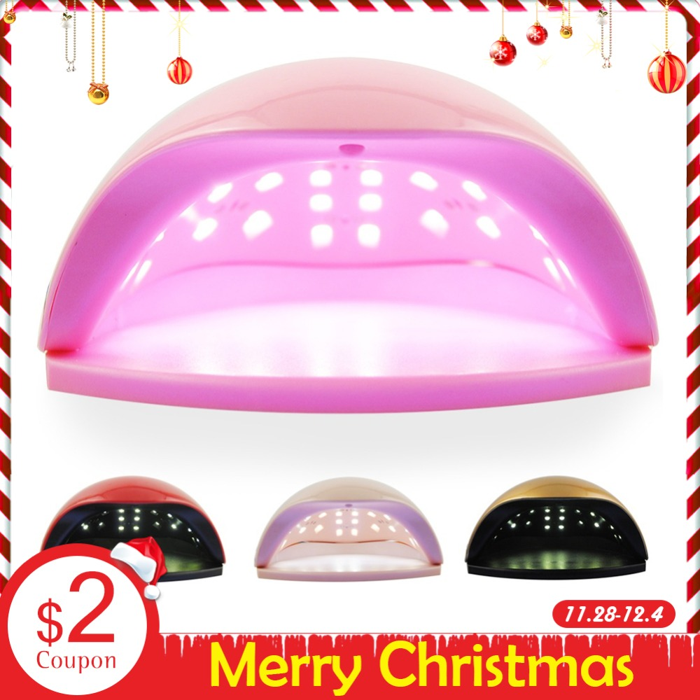 48W UV LED Lamp For Nails Dryer Manicure Machine For Nails All Gel Nail Polish Auto