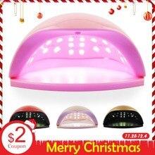 48 Вт УФ светодио дный лампа для ногтей сушилка маникюрная машина для ногтей все гель лак для ногтей автоматический датчик светодио дный светодиодный свет маникюрные инструменты