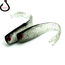 1pcs 8cm 3.7g Artificial Soft Bait Worm Swimbaits Fishing Lure 1 Color silicone T Tail Lure Fly Fishing Bait LD-115