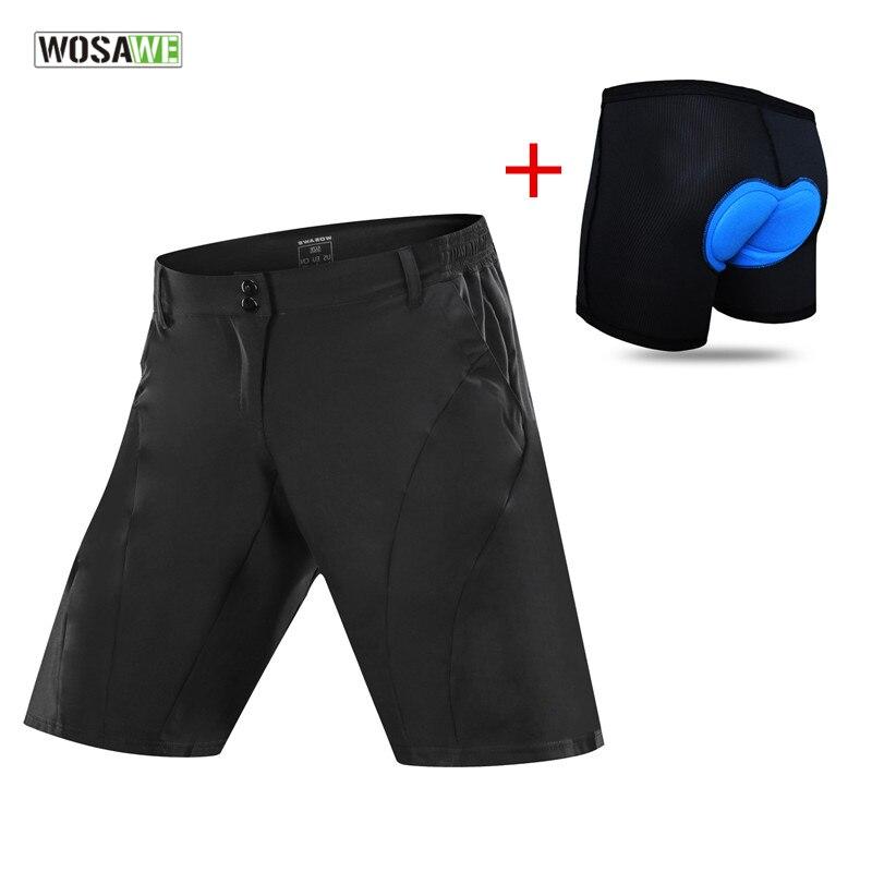 Велосипедные шорты WOSAWE, быстросохнущие спортивные брюки для досуга, велосипеда, велосипедного цикла, шорты для фитнеса, бега, комплект нижн...