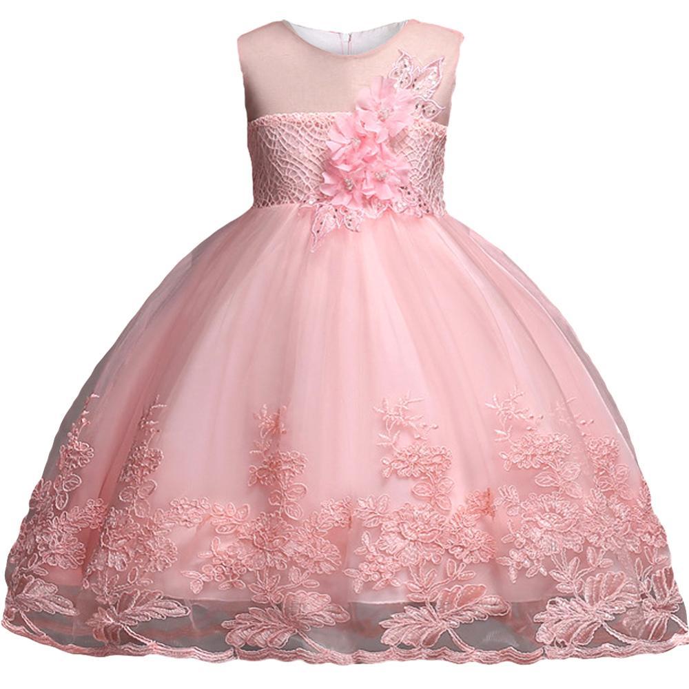 Children Clothing Girls Princess Christmas Kids Dresses For Baby Girls Infant Kids Flower Wedding Party Verstidos Dress Clothes 2