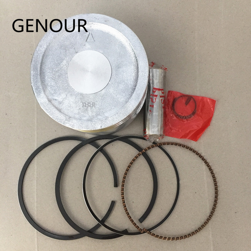 PISTON SET 88MM KIT FOR 4 stroke GX390 188F 13HP GASOLINE ENGINE FREE SHIPPING KOLBEN With RINGS WRIST PIN & CLIP REPLACEMENT piston set 88mm kit for 4 stroke gx390 188f 13hp gasoline engine free shipping kolben with rings wrist pin