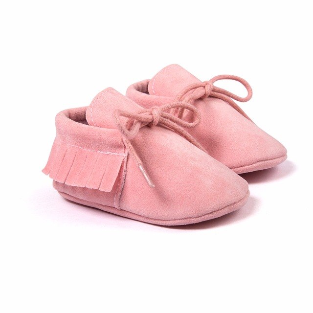 Baby Shoes 2019 Stylish PU Leather Baby Boy Girl Moccasins Soft Crib Shoes Fringe Soft Soled Non-slip Footwear First Walkers 2