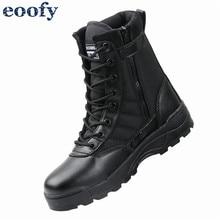 Новинка; военные мужские кожаные ботинки в стиле милитари США; тактическая обувь для тренировок; ботильоны в байкерском стиле; винтажная Боевая обувь