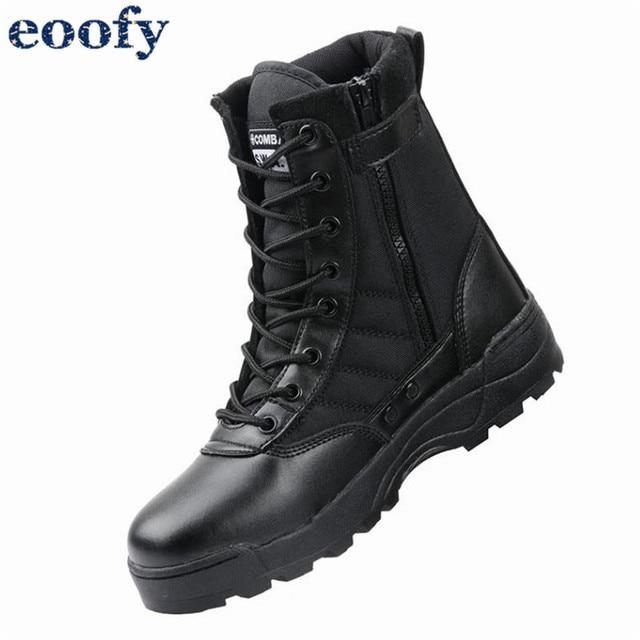 新しい米軍革戦闘ブーツ男性のための歩兵戦術的なトレーニング足首靴のオートバイのブーツヴィンテージコンバット靴