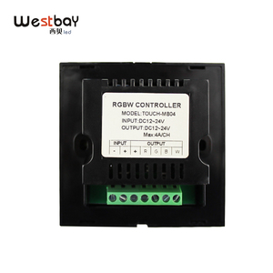 Image 3 - RGBW Touch Panel Switch Crystal DC12 24V Controller Light Dimmer Switch LED Strip Light Switch Tempered Glass Wall Switch