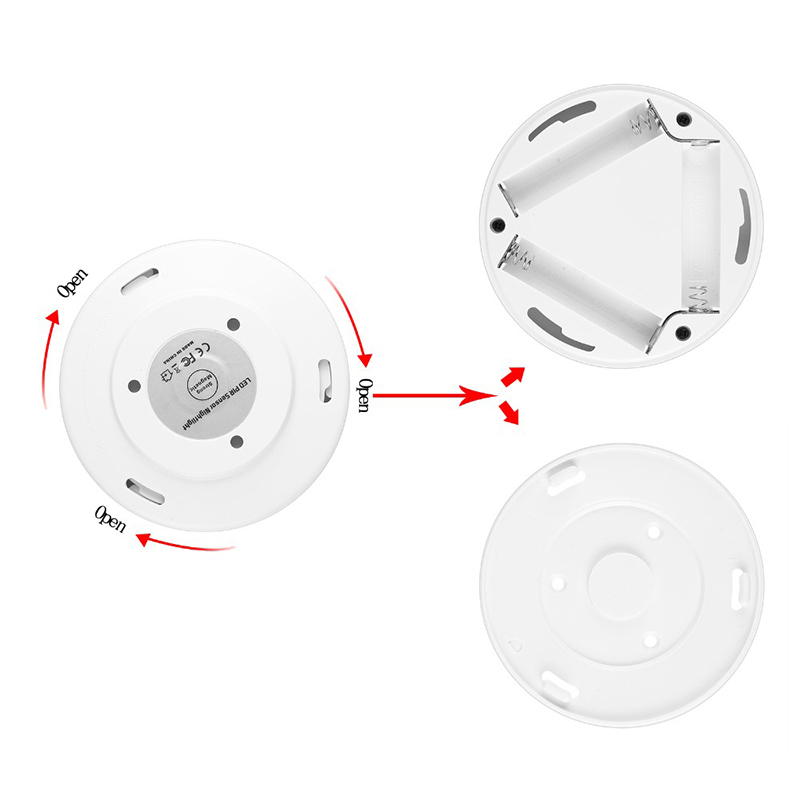 Luzes da Noite night light auto on/off bateria Feature : Magnetic Motion Sensor Led Light