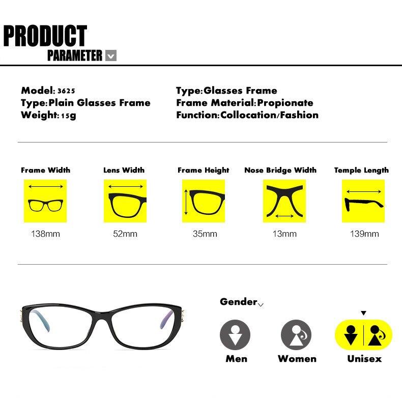 Eye Glasses Әйелдер Рамалары Fashion Brand Designer - Киімге арналған аксессуарлар - фото 4