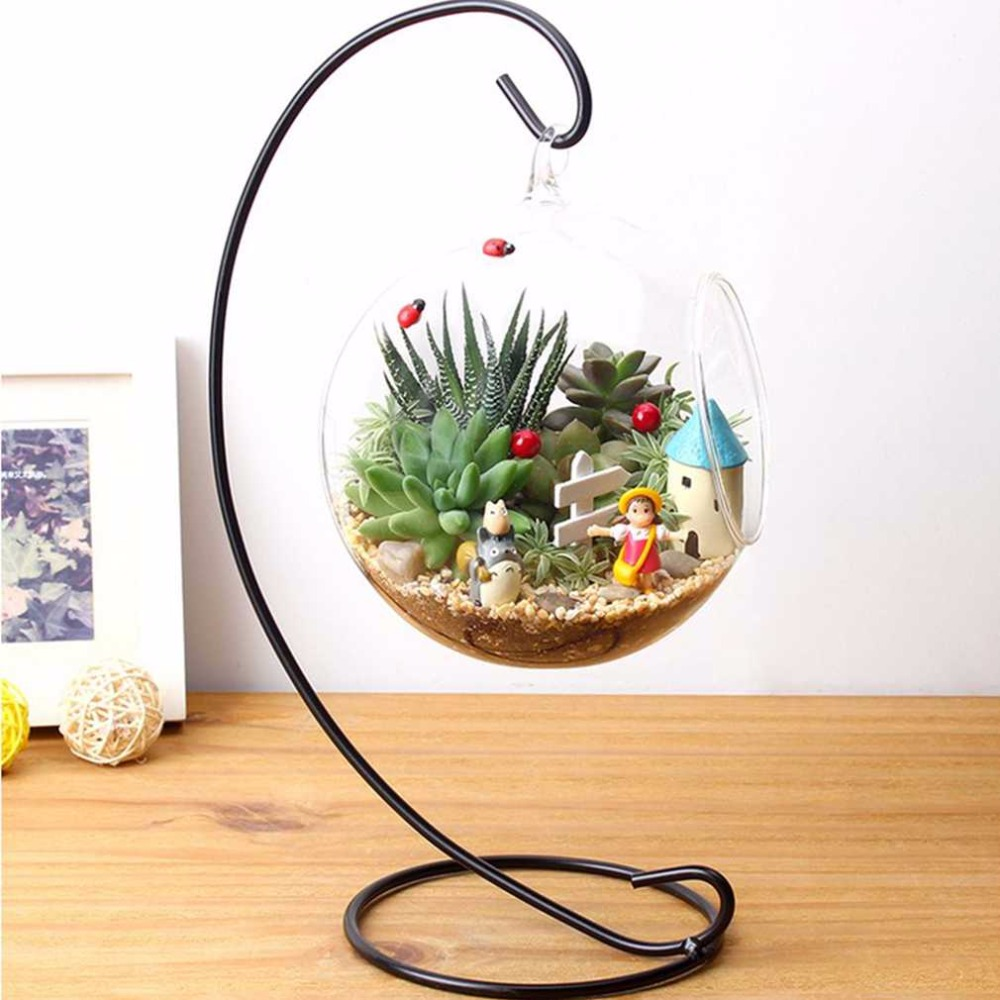diy hanging crystal flower vase planter terrarium container vases pot home wedding desk party. Black Bedroom Furniture Sets. Home Design Ideas