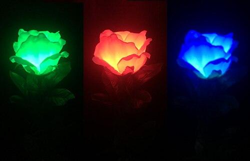 Trois couleurs Rose clair (télécommande) tours de magie scène Magia couleur changeante fleur Magia Illusions Gimmick accessoires magiciens