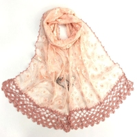 2017 New Ladies Laser Fresh Daisy Handmade Hand jacquard Lace Scarf / Shawl