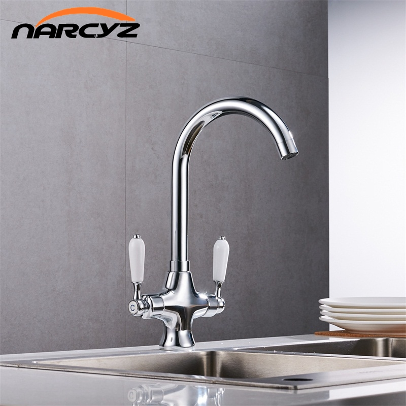 Free Shipping Chrome Kitchen sink Faucet Double Handle Water Purification Function 360 Rotation restroom mixer  XT-9Free Shipping Chrome Kitchen sink Faucet Double Handle Water Purification Function 360 Rotation restroom mixer  XT-9