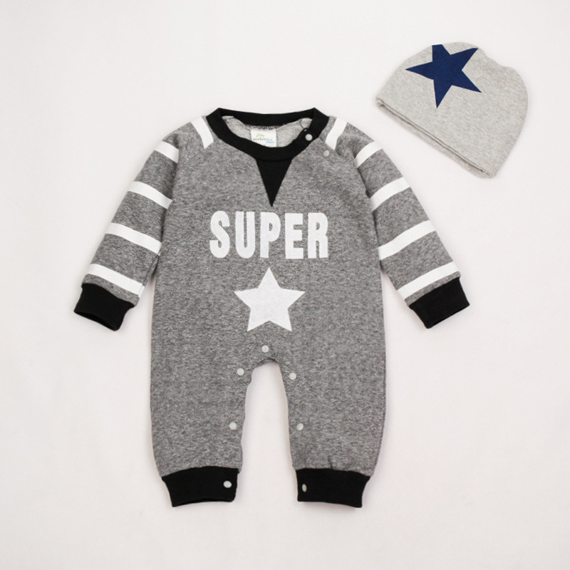 Newborn Baby Rompers Winter Boy Baby Clothing Set with Hat Infant Costume Baby Kids Clothing Long Sleeve Baby Overalls Jumpsuits newborn baby photography props infant knit crochet costume peacock photo prop costume headband hat clothes set baby shower gift