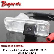 For Hyundai Grandeur ix25 Creta 2011 ~ 2016 Reversing Camera Car Back up Parking Camera Rear View Camera CCD Night Vision