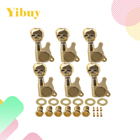 Yibuy 6R 6 X 4 3cm X 3 7cm Skull Tuning Pegs For Sealed Electric Guitar