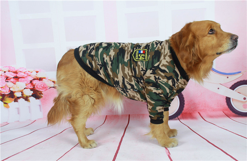 Camouflage dog jacket big dog clothes (7)