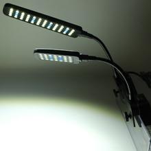Aquarium Fish Tank 28/48 LED Clip On Light Lamp Sump with 2 Modes and Flexible LED Plant Grow Lights Kit