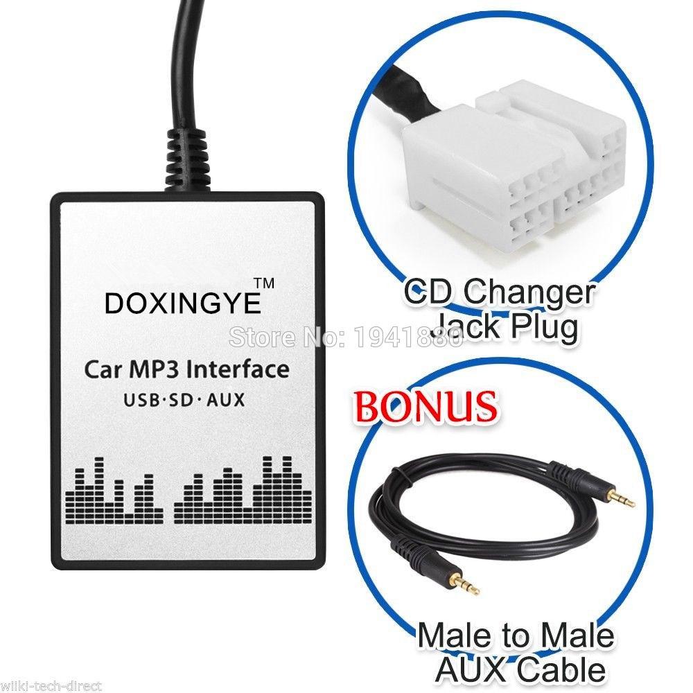 Image 3 - DOXINGYE,USB SD AUX Car MP3 Player Music CD Radio Digital CD Changer Adapte For Suzuki Grand Vitara Liana Swift Splash-in Car MP3 Players from Automobiles & Motorcycles