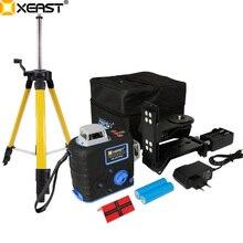 XEAST XE-68R Pro 3D лазерные нивелиры 12 линий перекрестный уровень с функцией наклона и самонивелирующимся 360 поворотным красным лазером