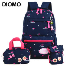 280b551f1ded DIOMO Children s Backpack 6-12 Years Old School Bag Primary School Girl  Cute Princess Bow