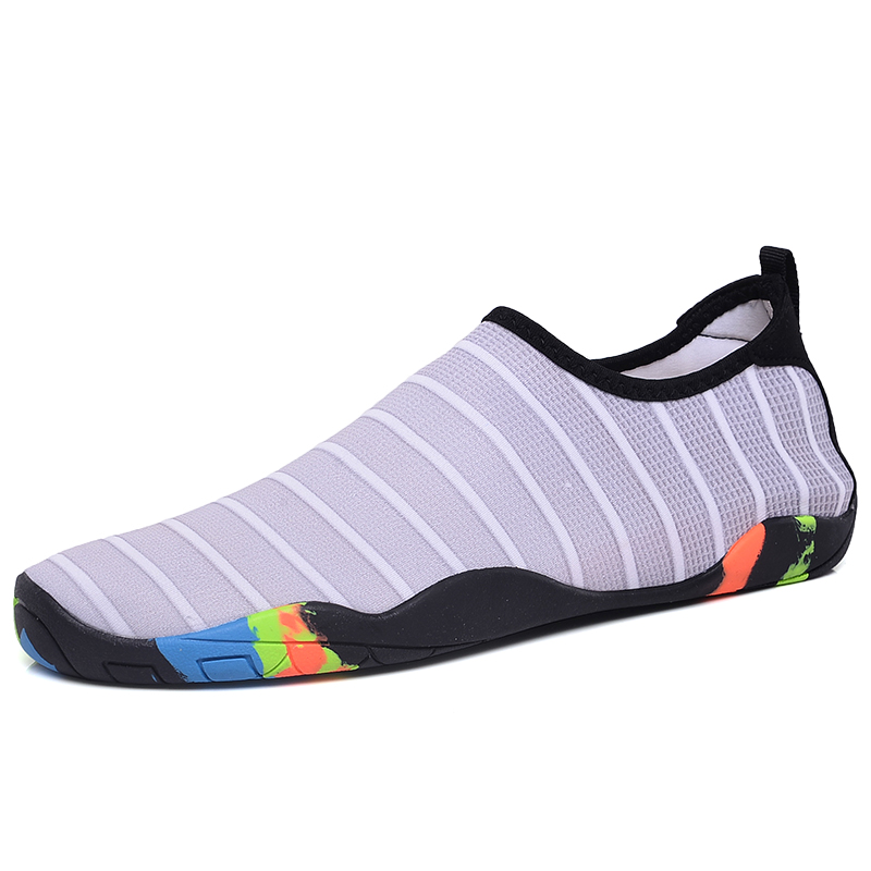 Summer Water Shoes Men Swimming Shoes Aqua Beach Shoes Big Plus Size Sneaker for Men Striped Colorful Zapatos Hombre in Men 39 s Casual Shoes from Shoes