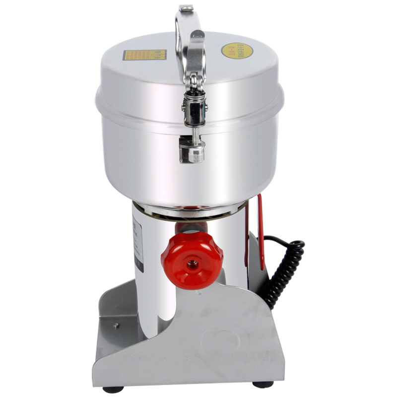 1800W Stainless Steel Powder Grinder Machine 500g Household Swing Type Grinding Device Mixer for Small Grain Medicine Chopper rimei 3013 handy durable stainless steel nailclippers w grinding pad silver
