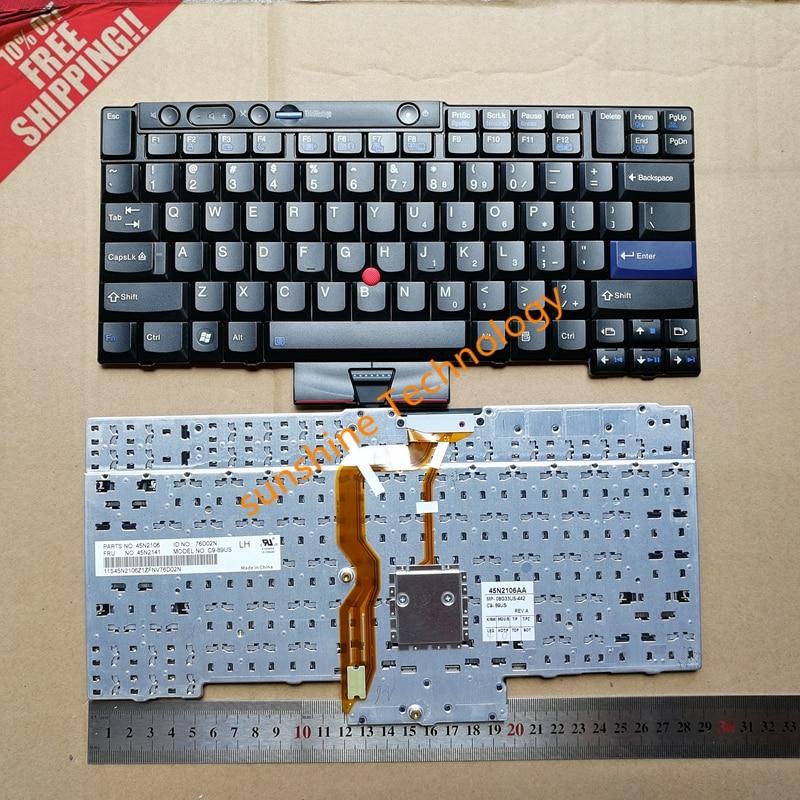 Nouveau clavier d'ordinateur portable pour lenovo Thinkpad T410 X220 T420 T410I T420S T400S X220I 45N2106 clavier d'ordinateur portable version US