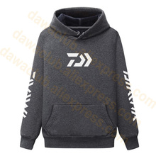 2019 New Daiwa Fleece Hooded Winter Fishing Clothing Jacket Outdoor Sport S-5XL Hiking Hoodie Clothes Sweater