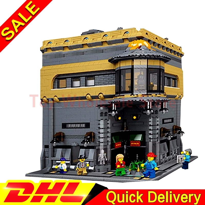 LEPIN 15015 5003Pcs City Street The Dinosaur Museum Model Building Kits Blocks Bricks Clone Children lepins Toys Gift lepin 02012 city deepwater exploration vessel 60095 building blocks policeman toys children compatible with lego gift kid sets