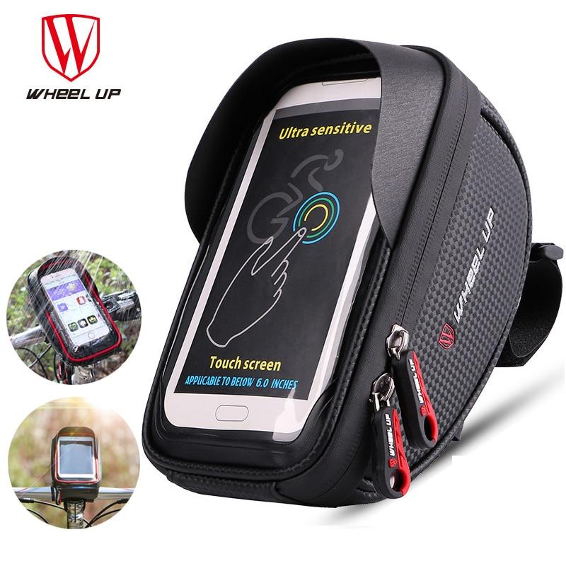 Soporte de rueda para teléfono de ciclismo a prueba de agua 6,5 pulgadas Soporte para teléfono móvil Soporte de manillar de Bicicleta Soporte de Bicicleta