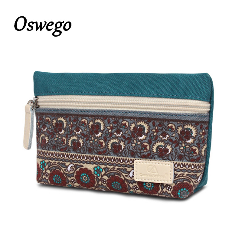 Women Canvas National Spot Small Coins Purse Clutch Wallet Coin Bag Changes Bag Ladies Keys Cards Phones Pouch Money Bags japanese pouch small hand carry green canvas heat preservation lunch box bag for men and women shopping mama bag