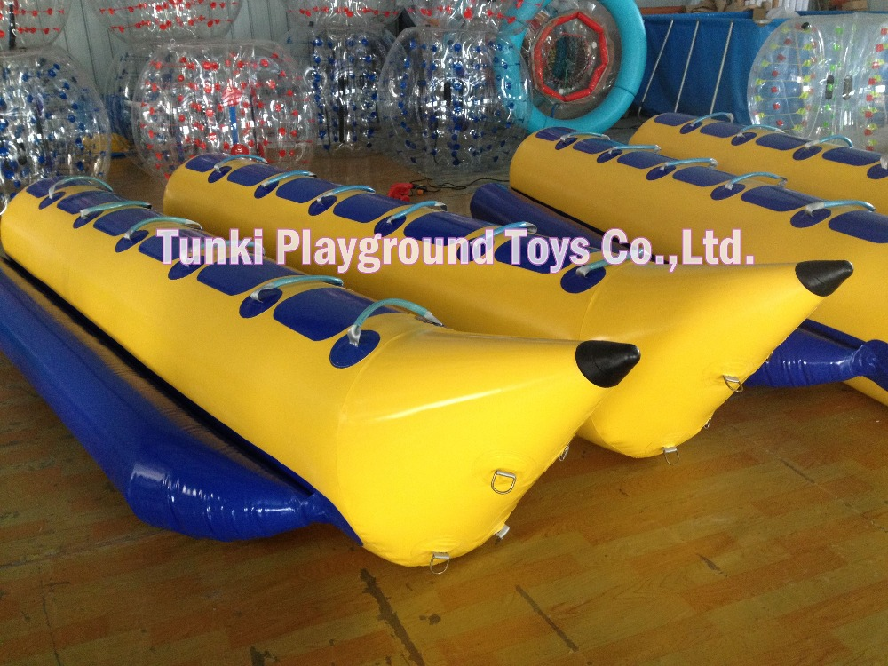 12 seats inflatable banana boat for water sports race