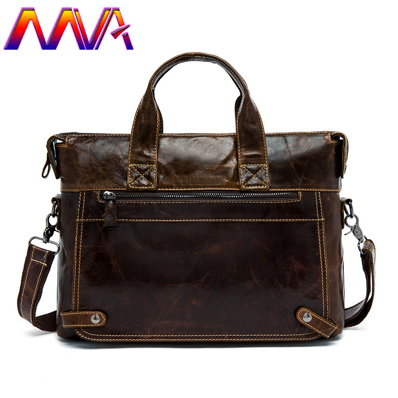 MVA 2018 Newly cow leather men crossbody bag for 14 inch laptop shoulder bag with genuine leather men briefcase of men briefcase стоимость