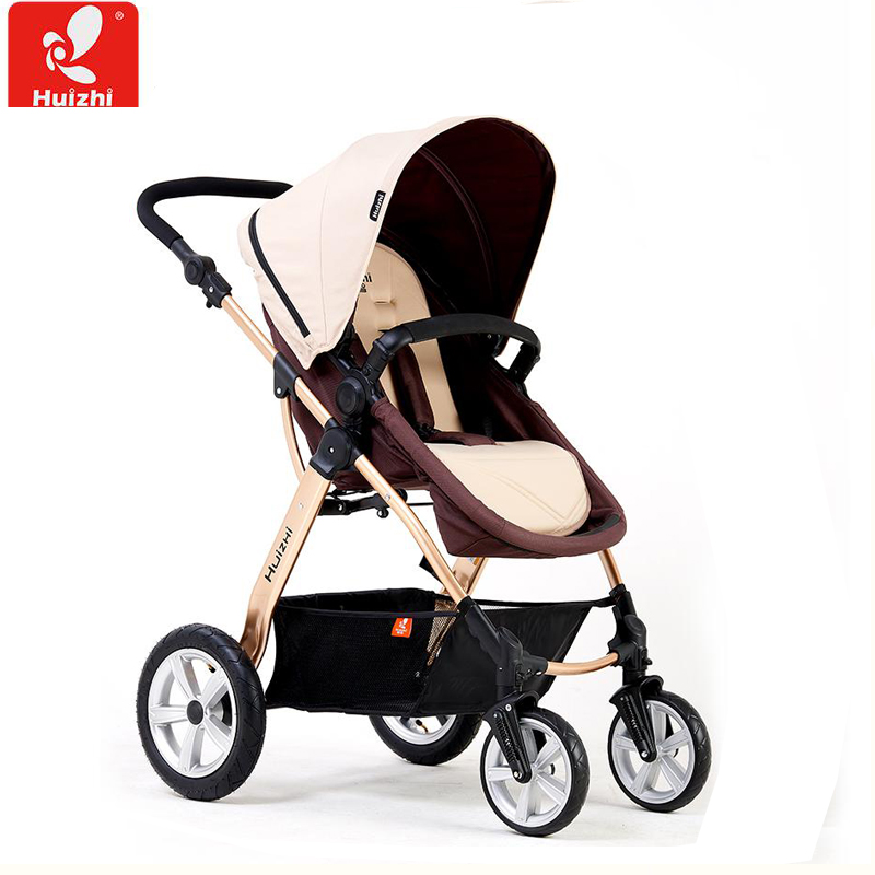 Baby Stroller Can Sit And Lie with  High Landscape Carriage Folding Four Wheel high landscape baby stroller can sit and lie in a folding baby four seasons universal newborn baby summer baby stroller