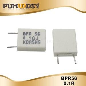 10pcs BPR56 5W 0.1 0.15 0.22 0.25 0.33 0.5 ohm Non-inductive Ceramic Cement Resistor 0.1R 0.15R 0.22R 0.25R 0.33R 0.5R