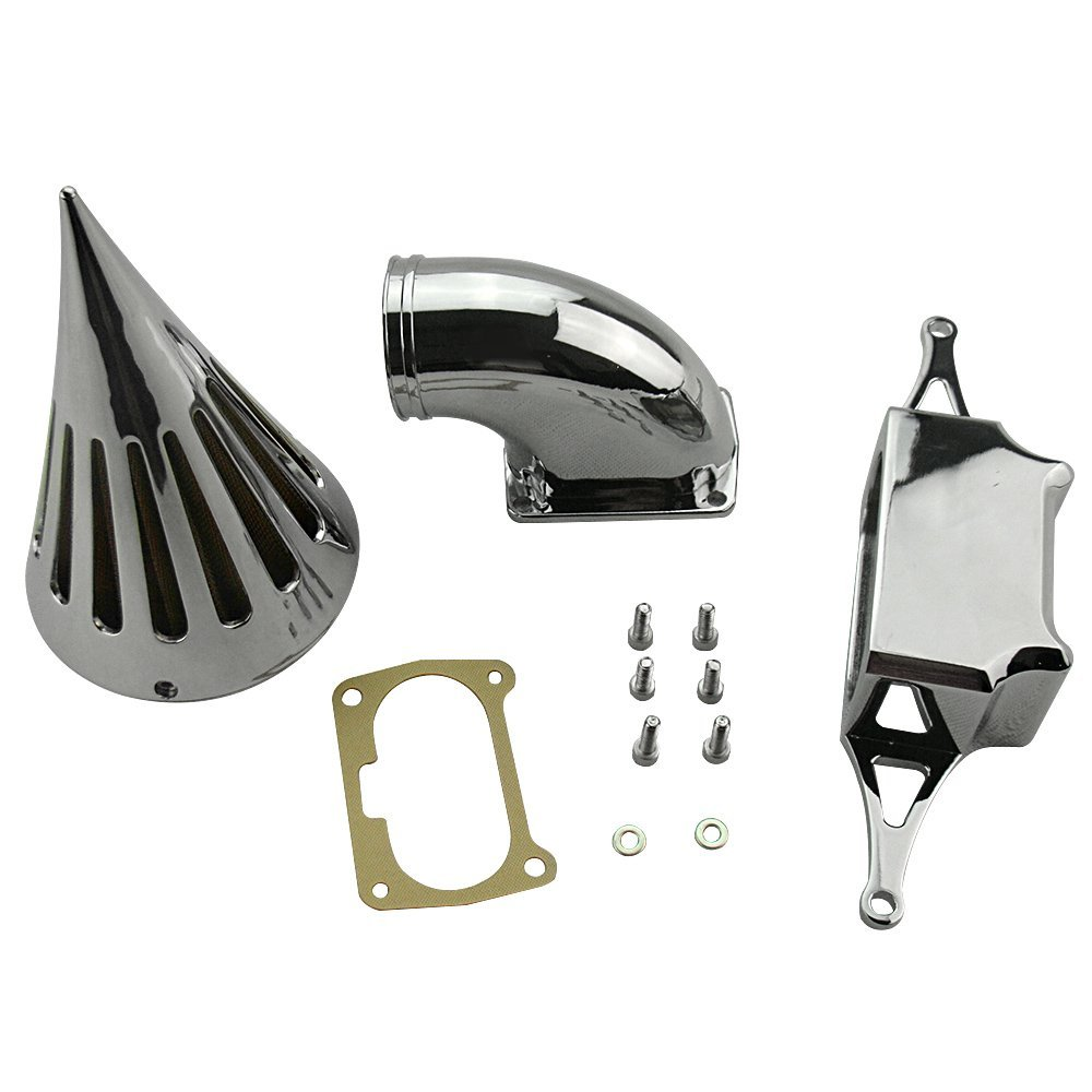 цена на For Yamaha Road Star Roadstar Warrior Midnight Motorcycle Air Cleaner Intake Filter Kit Assembly Cone Spike