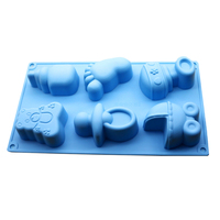 1pcs Silicone Mold Cake Making Children S Products And Ice Cream Mold Chocolate Biscuit Making Soap
