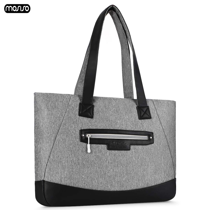 MOSISO PU Leather Laptop Bags For Women 15.6 17.3 Inch Waterproof Notebook Shoulder Bag For Macbook Dell HP 15 17 Inch Handbag