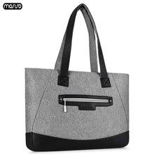 MOSISO PU Leather Laptop Bags for women 15.6 17.3 inch Waterproof Notebook Shoulder Bag Macbook Dell HP 15 17 Handbag
