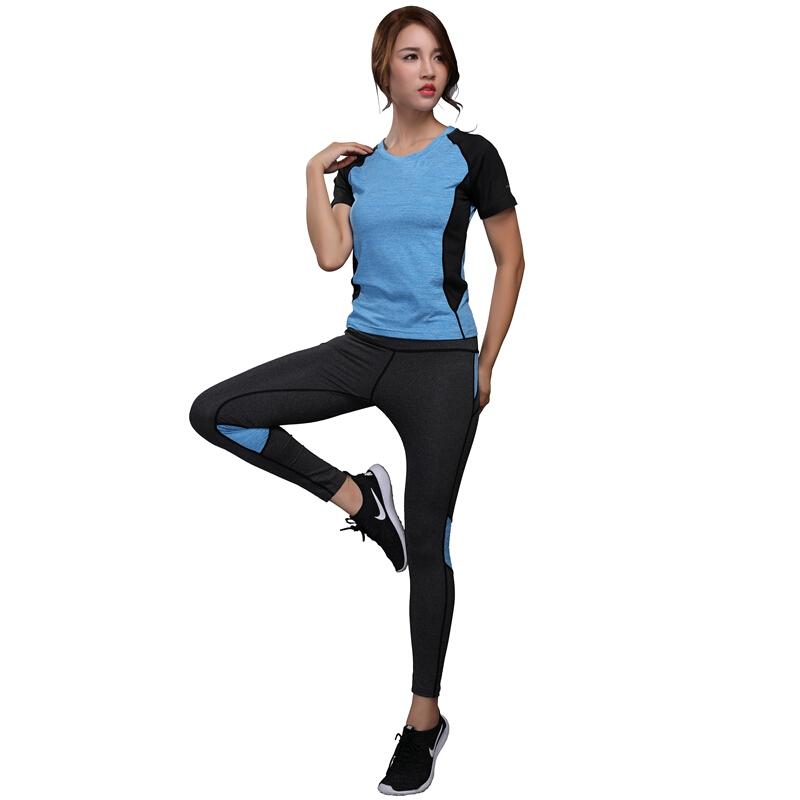 Amicable Oloey 2 Pieces Women Yoga Sets Shirt+pant Female Hips Tracksuit Running Sports Suit Elastic Workout Leggings Fitness Gym Clothes Home