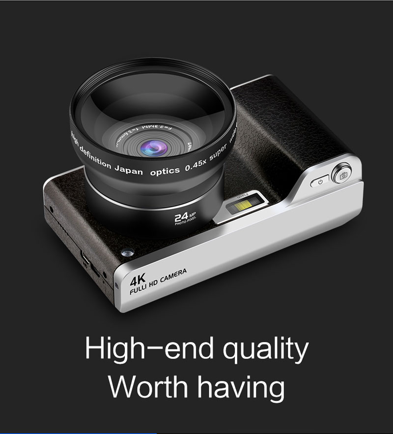 HTB1VD0sV9zqK1RjSZFjq6zlCFXaW 4.0 inch Digital Camera Full HD 1080P 24MP 8X Zoom Touch screen Digital Camera Video Recorder High Quality Touch screen camera