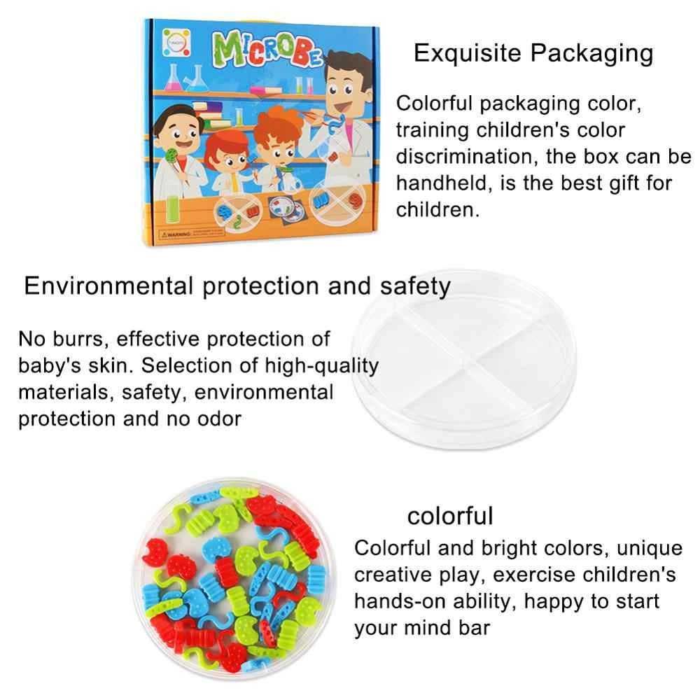 Jouet éducatif pour enfants, faire semblant d'être des Microbes scientifiques, expériences de laboratoire, jouet éducatif outils d'enseignement
