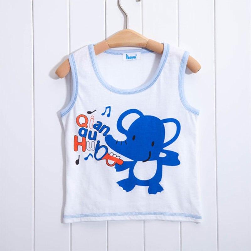 1ad52b66e500d لطيف الحيوان الفتيان تي شيرت القطن الأطفال الملابس قمم قمزة قميص الصيف  أكمام ملابس أطفال بنين T قميص الكرتون خزان سترة
