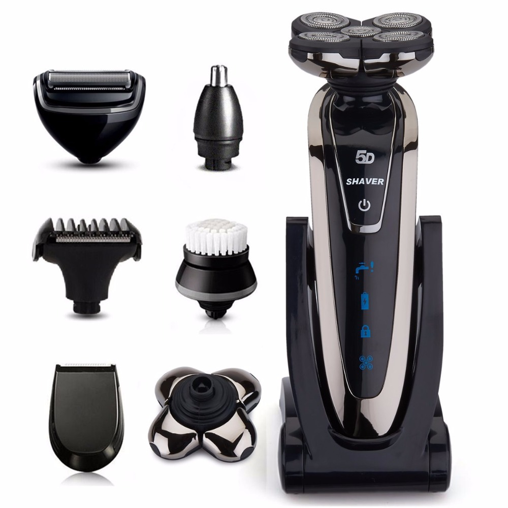 6in1 Wet/dry Shaving Machine 5D Shaver Rechargeable Electric Shaver Portable Electric Razor For Men Beard Travel Grooming Kit