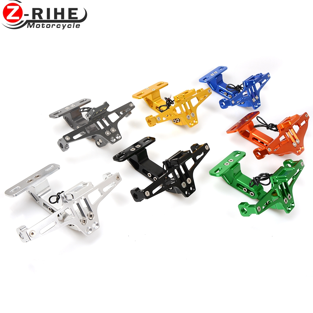 motorcycle accessories Universal Fender Eliminator License Plate Bracket Ho Tidy Tail For Kawasaki Zephyr 750 ZX636R z900 z300 for suzuki gsxr1000 2007 2008 motorcycle licence plate bracket tail tidy rear fender eliminator billet aluminum