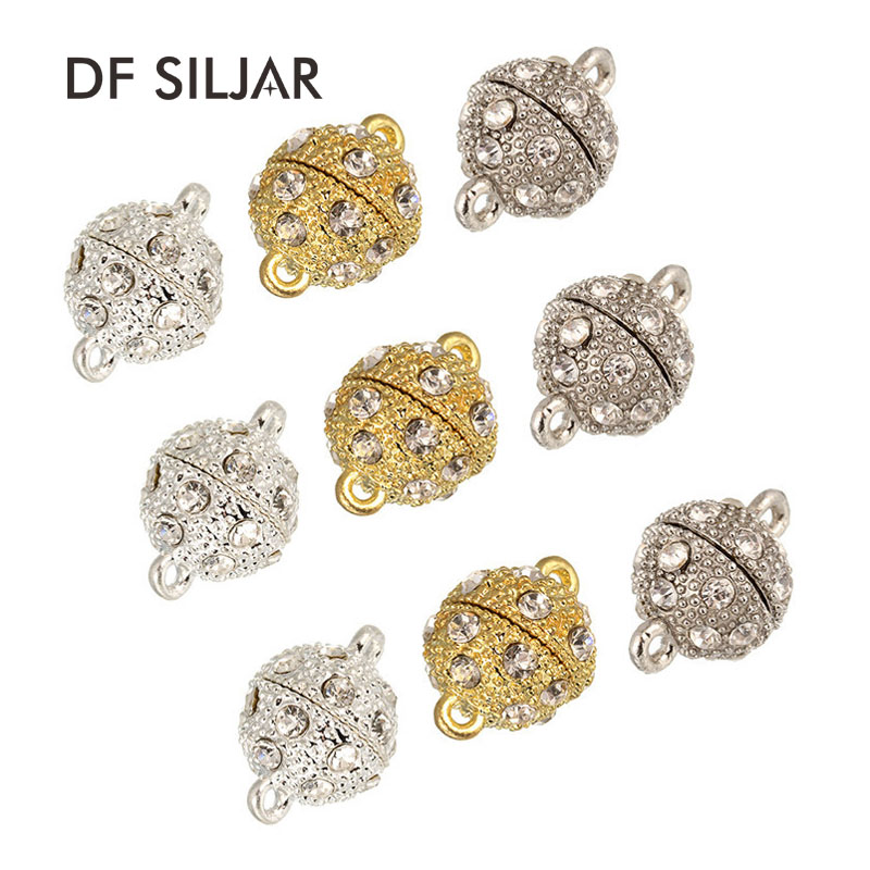 XINYAO-10pcs-lot-Crystal-Strong-Magnetic-Clasps-For-Necklace-Bracelet-Gold-Color-End-Clasps-Connectors-For