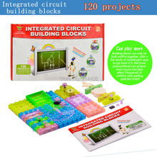120projects integrated circuit model building blocks,assembled DIY electronic experiments Radio&light toys science&funny kit
