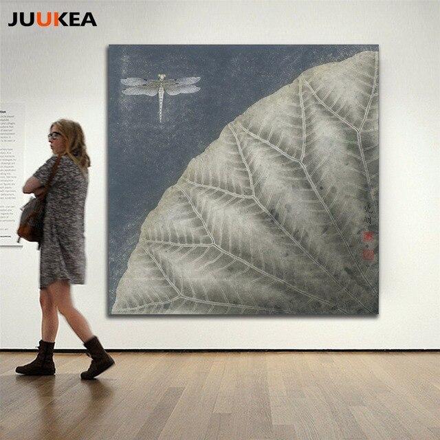 Moderne Japan Stil Classics Lotus Blumentanz Tinte Leinwand Kunstdruck Malerei Poster Wandbilder Fur Wohnzimmer